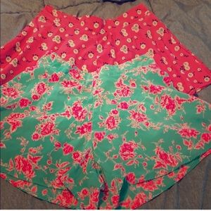 2 pairs floral short
